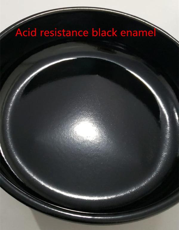 Acid resistance black enamel